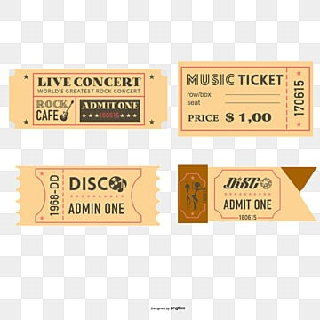 Concert Ticket Png, Vector, PSD, and Clipart With