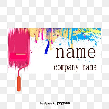 Paint Business Card Design Decoration Interior PNG And PSD