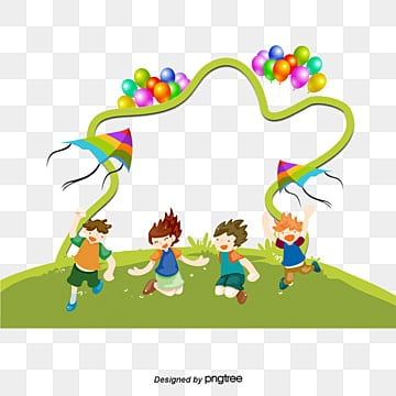 kids and balloons children balloon decoration png and psd