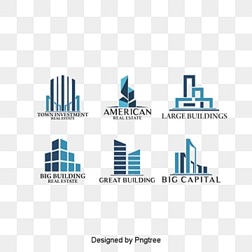 6 stylish building logo design, Fashion, Construction Signs, Icon PNG and PSD