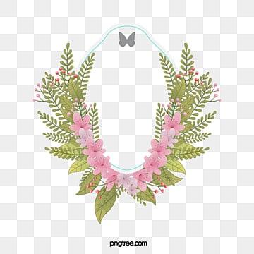 Vintage Floral Frame Label