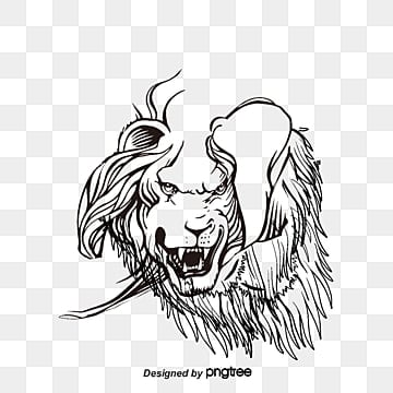 vector painted lion head, Lion Clipart, Head Clipart, Vector PNG and Vector