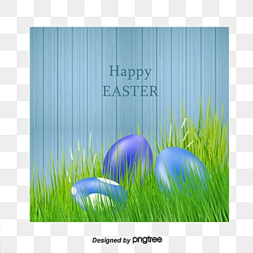 Easter Egg Blue Greeting Cards Vector Material Eggs PNG And