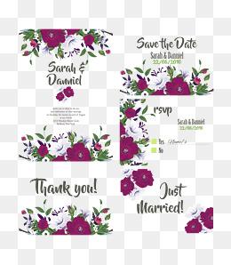 Wedding invitations decorative elements, Wedding Elements, Flowers, Decorative Elements PNG and Vector