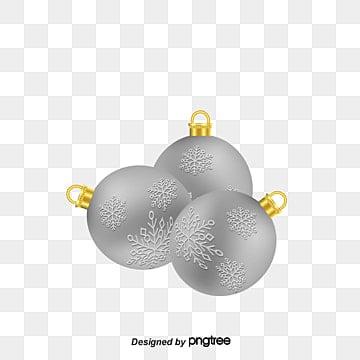 Silver Christmas Ball Snowflake PNG And Vector