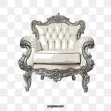 White Sofa, Sofa, Furniture Elements, European Sofa PNG Image And Clipart