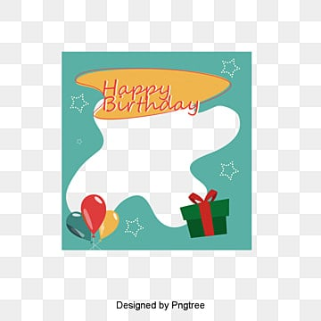Birthday photo frame vector material, Happy Birthday, Frame, Photo PNG and Vector