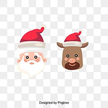 Santa's reindeer, Santa Claus, Reindeer, Tummy PNG Image