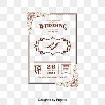 Vintage lace wedding invitation, European-style Lace, Wedding Invitation PNG and Vector