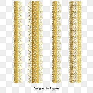 gold lace pattern vector material, Golden, Pattern, Lace PNG and PSD