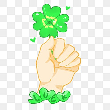 A Four Leaf Clover Green Plant Hand Painted PNG Image And Clipart