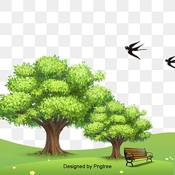 Tree green natural landscape, Green Grass, Park, Natural Landscape PNG and PSD