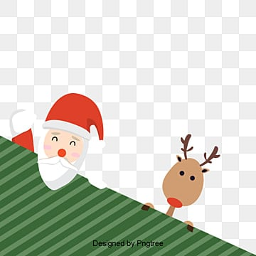 be6da67b79958 cartoon christmas santa and deer