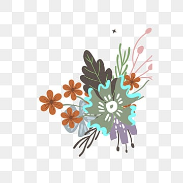 blue flowers border vector cartoon ai png and vector