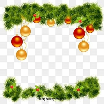 vector christmas border christmas decoration box pine flower png and vector