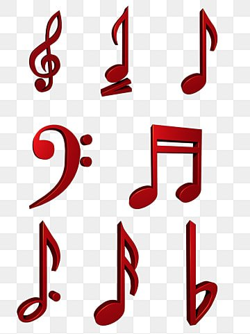 vector red music notes side portrait silhouette portrait side rh pngtree com Music Note Clip Art Music Notes SVG