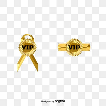 Vector VIP badge awarded creative design, Certificate Of Merit Badges, Certificate Badge, Ribbon PNG and Vector