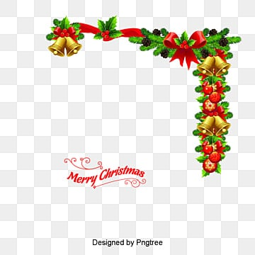 Christmas wreath with bells, Vector, Cartoon, Bell PNG and Vector