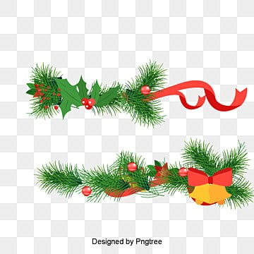 Christmas bells and pine branches, Vector, Cartoon, Pine PNG and Vector
