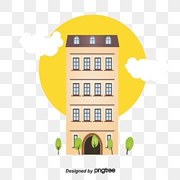 The Building Clouds Flat Vector Hotel Hotels PNG And