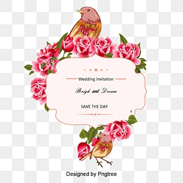 Rose painted birds vector, Vector Rose, Hand-painted Roses, Hand-painted Birds PNG and Vector