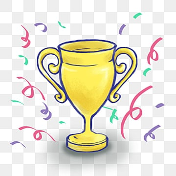 Holding The Trophy Gold Small Yellow People Clipart