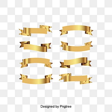 Vector Gold banner, Decoration, Colored Ribbon, Gold Color PNG and Vector