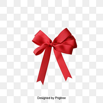 Red bow, Gift, Ribbon, Gift PNG and PSD