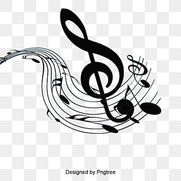 Design do símbolo de música Negra, Símbolos De Música, A Música, Símbolo De DesignPNG e PSD