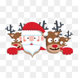 Cartoon Santa Claus with reindeer Vector, Santa Claus, Christmas Reindeer, Christmas Illustration PNG and Vector