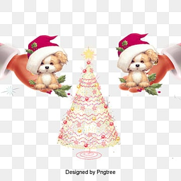 Puppy with Christmas hats, Christmas, Halloween, Dog With A Hat PNG and PSD