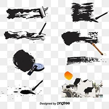 한국 필묵 수묵 벡터 소재, 한국, 필묵, 수묵 PNG 및 벡터