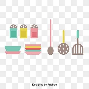 Kitchen Utensils Bowl And Spoon, Kitchen, Kitchenware, Pots And Pans PNG  And Vector