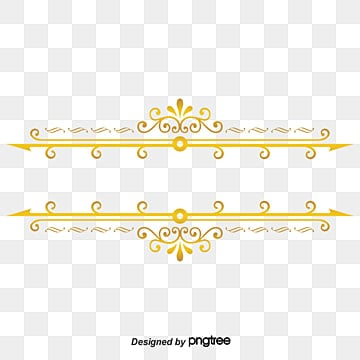 Gold Line Border Gold Dendrite Gold Frame Line Border