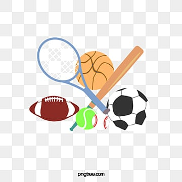 Sports equipment. Clipart download free transparent