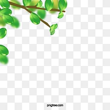 Green Leaf Border Line Leaves Border PNG Imag...
