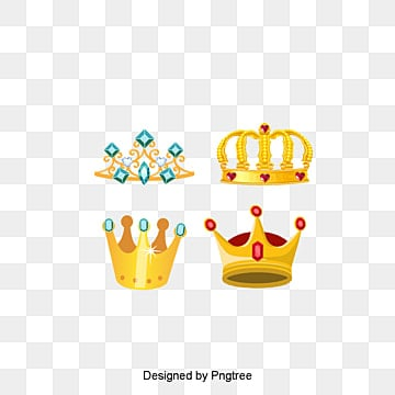 King's crown, Yellow, Hand Painted, Gem PNG Image