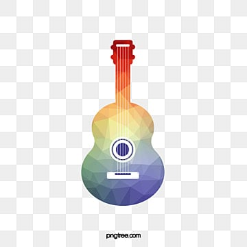 Vector Material Acoustic Guitar Wooden Pictures Colorful PNG And