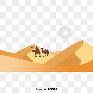 Vector desert safaris, Camel, Yellow, Sun PNG and Vector