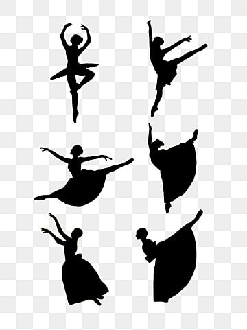 hand-painted latin dancers silhouette