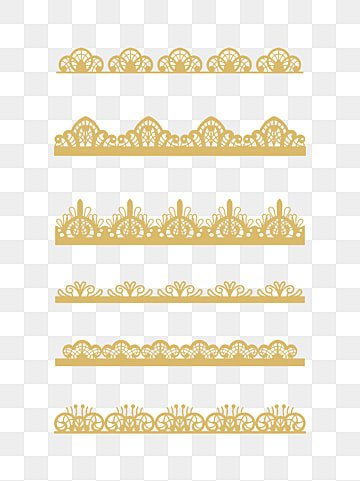 Lace Pattern Trim Transparent Shading PNG Image And Clipart
