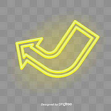 Yellow neon arrow