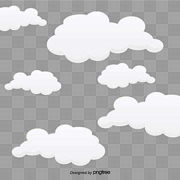 Cartoon beautiful white clouds, Cartoon, Beautiful, Baiyun PNG and Vector