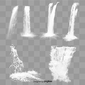 Transparent waterfall Free PNG and PSD