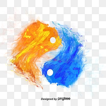 Yin And Yang Fire And Water Fire Water Yin Background Image For