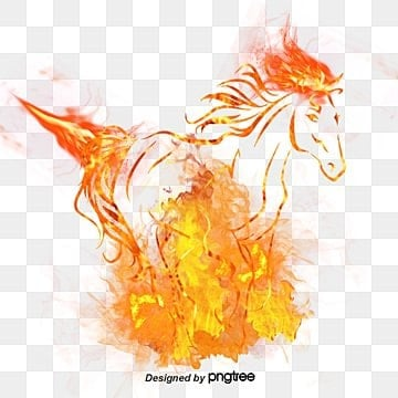 Fire Horse, Fire, Spark, Flame PNG and PSD