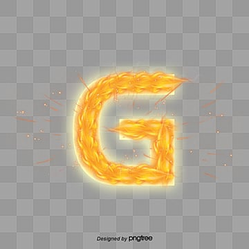 Flame Letter G PNG And PSD