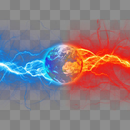 Earth light effect, Ice And Fire, Get An Electric Shock, Lightning PNG and PSD