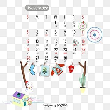 Calendario de noviembre de, Calendario De Noviembre De, Calendario, Calendario Creativo PNG y PSD