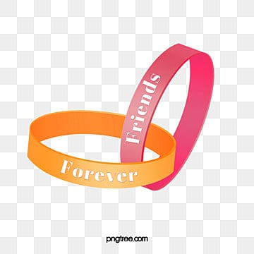 Vector Friendship Ring Wristband Friend Forever And Always PNG